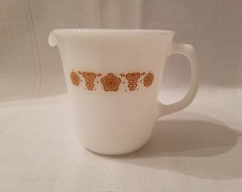 Vintage Corning USA Creamer in the Butterfly Gold Pattern / Butterfly Gold Creamer