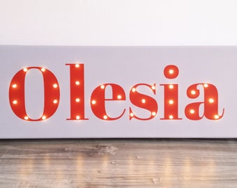 NAME sign, Name in lights, Light up letters, Light up name, Birthday gift, Name with Led, Custom marquee sign, Kids lamp, Personalized, Name