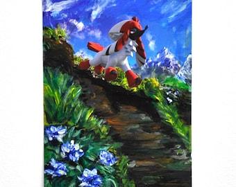 Furfrou - Painted Pokemon Card