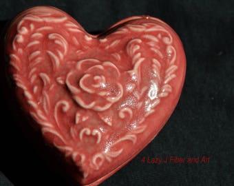 Large Ceramic Heart Box
