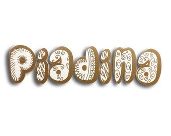 Piadina - Piadina sign, shop sign, 3D letters, food sign, bar sign, wall letters, wall sign, letter sign   Tropparoba - 100% made in Italy