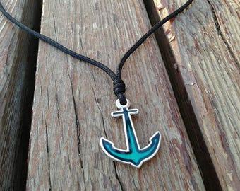Anchor necklace - vegan