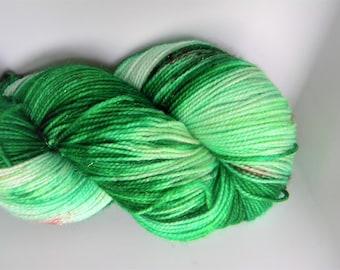 Mistletoe and Holly Stellina Sock Yarn