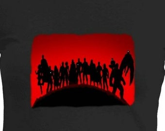 Avengers Infinity War Shirt - His and Hers Tees - Free Shipping See Below - Captain America Black Panther Iron Man Spider Man Dr Strange