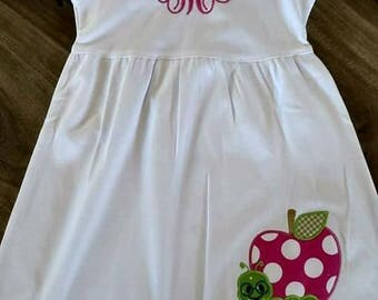 Girls Back to School Dress personalized