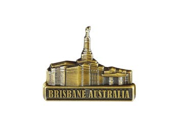 Brisbane Australia Temple Gold Pin - LDS Gifts