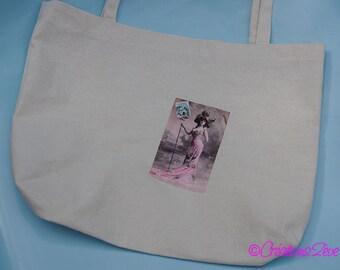 Tote Bag / Tote / beach bag 100% linen vintage print