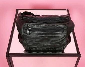 Leather bum bag XS-M