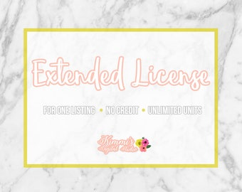 Extended (Mass Production) Commercial License for ONE Listing of Artwork for Unlimited Units - License for Use of Clip Art, Digital Papers