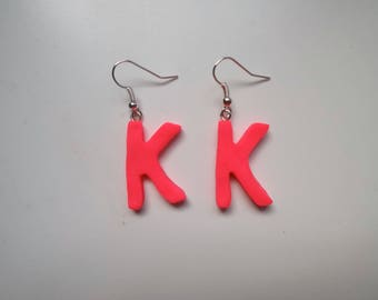 Bright Pink K Earring