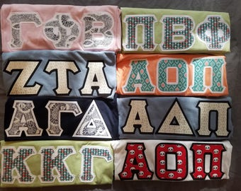 Custom Letters Greek Stitched Shirt