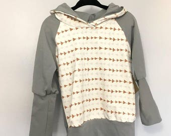 RTS -  Grow-with-me Sweater 12m-3T Grey/Arrows