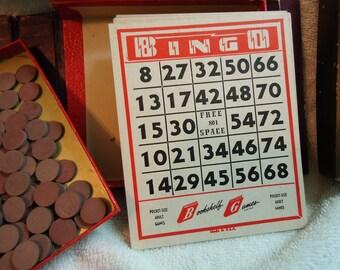 Vintage Bingo Game, Bookshelf Game Bingo Game