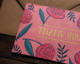 Blank Inside Thank You Card Floral