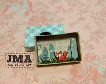 Matchbox Art- Little fox / Diorama / OOAK