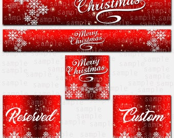 Etsy Store Banner, Merry Christmas, Store Graphics, Etsy Shop Banner, Avatar, Graphic Design, Shop Icon, Christmas Set, Reserved, Custom