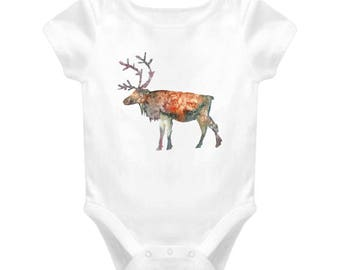 Moose Baby One-piece Bodysuit For New Baby Gift, Infant Onesie For Boy & Girl Great Gift For Baby Shower, Animal Cartoon
