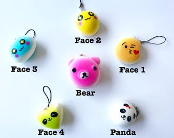 cute scented squishy emoji faces animals stress reliever slow rising