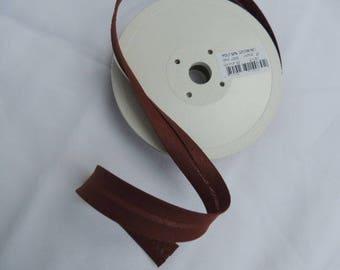 Folded width Brown polycotton bias 20 mm