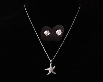 Starfish-necklace and Earrings Sets