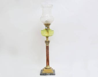 Old oil brass lamp approx. 1900's