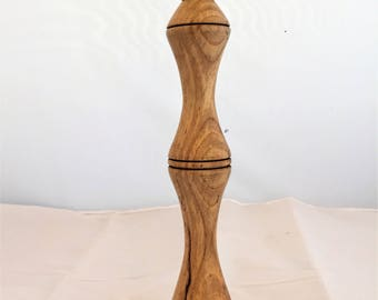 candlestick, wood single elegant made from Sycamore