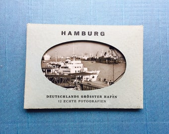 Vintage Souvenir Black and White Photographs Hamburg, Germany
