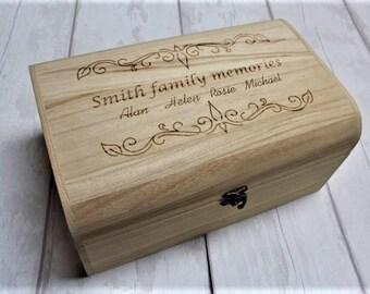 Family Memories personalised engraved memory box