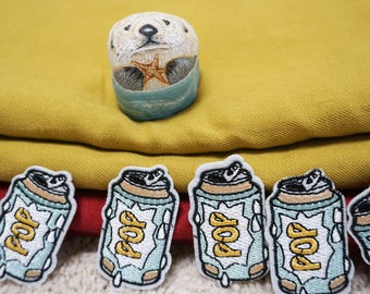 POP can iron on patch/embroidered patch/cartoon patch/drink patch/denim patch/jackets patch/DIY