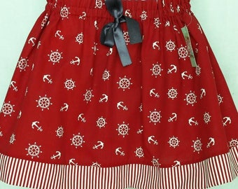 Skirt red sailor girl 3 years