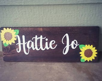 Personalized Sunflower Sign