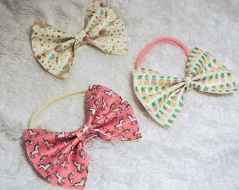 Faux leather bows