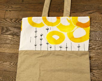 tote bag yellow circle