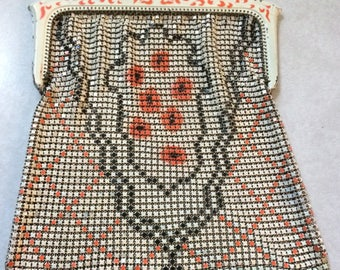 Whiting & Davis Enamel Mesh Purse