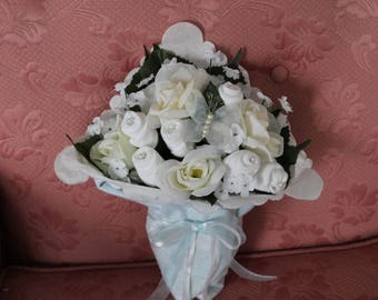 Little Boy Blue Sock Bouquet Beautiful Baby Shower Centerpiece New baby Gift Welcome baby gift