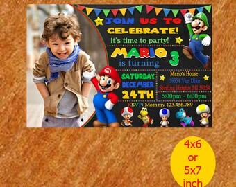 Super Mario Invitation / Super Mario Birthday Invitation / Super Mario Party Invite / Super Mario Birthday / Super Mario Invite