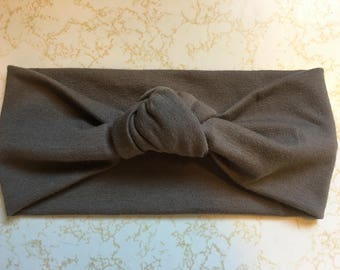 Taupe Knotted Headband