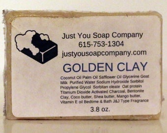 Golden Clay Natural Soap with bentonite clay