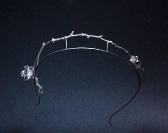 Coronet in silver 925, amethyst & orange sapphires