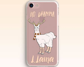 iPhone 7 Llama Dramma Case iPhone 8 Case iPhone 6 Сute iPhone 6s Plus Clear case for Samsung S8 No Drama Lama case for Galaxy S6 S7 079