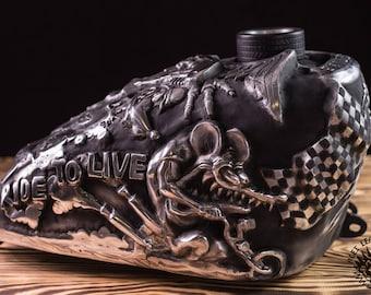 "Custom Tank Harley Chopper Softail Motorcycle UNIKAT Universal ""Kustom Kulture"""