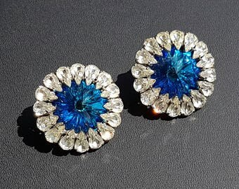 Vintage 1960' Haute Couture Clip on Paste Earrings