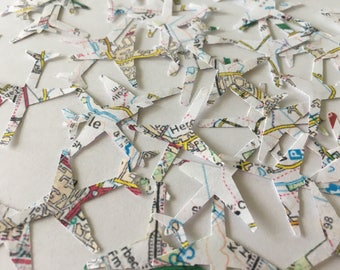 Airplane Map Confetti  - 15%OFF code: 15JULY