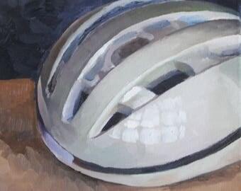 Bike helmet still life