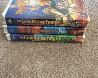 Land Before Time 3, Land Before Time 5, and Land Before Time 7