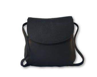 Genuine leather satchel / Women satchel / Handbag / Shoulder bag / Crossbody bag / Black