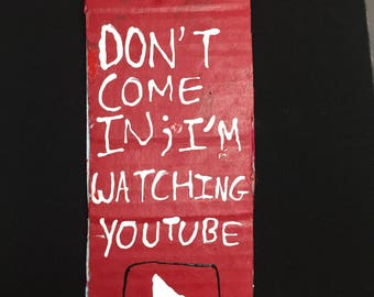 Youtube Door Hanger