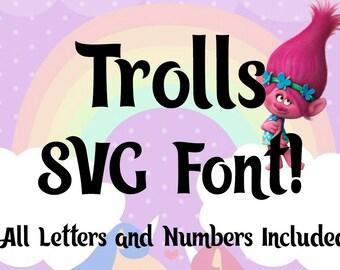 Trolls Alphabet SVG | Trolls Font SVG | Trolls Complete Alphabet Font SVG | Trolls Font | Instant Download| Cricut Silhouette svg cut file