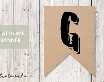 DIY Banner - 'G'. Instant Download. Printable Banner Letters. - 02