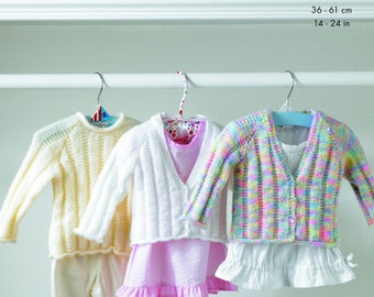 Cardigan and Sweater Knitting Pattern - King Cole DK and 4 Ply Knitting Pattern 2961
